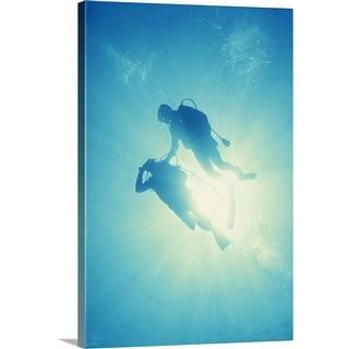 """Scuba diving"" Canvas Wall Art"