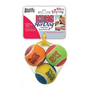 3 Pack Medium Assorted KONG Birthday Fetch Balls