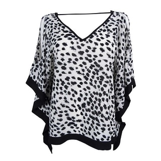 BCX Juniors' Cold Shoulder V-neck Bat Wing Top - m