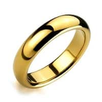 Gold Plated Comfort Fit High Polish Tungsten Band Ring 6mm