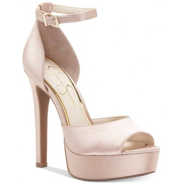 d439bc9f89c Shop Jessica Simpson Womens Beeya Peep Toe Ankle Strap Pumps - Free ...