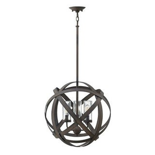 """Hinkley Lighting 29703 Carson 3 Light 19"""" High Cage Outdoor Chandelier"""