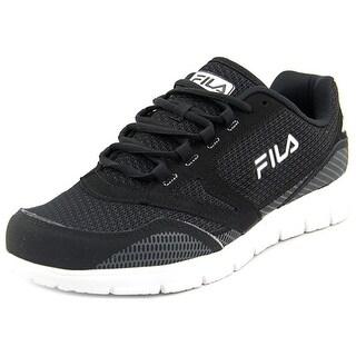 Fila Direction Men Round Toe Synthetic Black Running Shoe