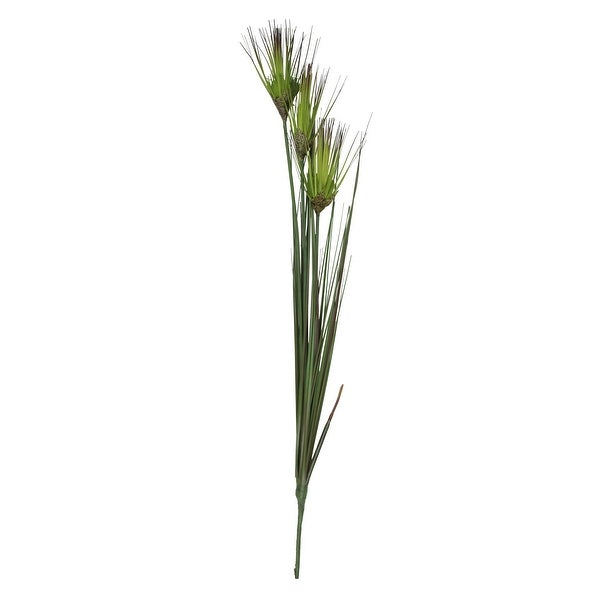 """27"""" Artificial Green Tall Blooming Grass With Buds Floral Spray - N/A"""