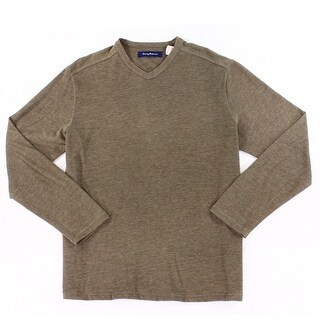 Tommy Bahama NEW Brown Mens Size Large L Heathered V-Neck Sweater