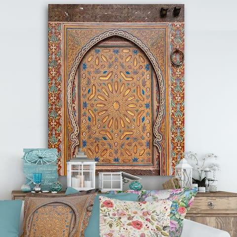Designart 'Ancient Door Morroco' Vintage Gallery-wrapped Canvas - Multi-color
