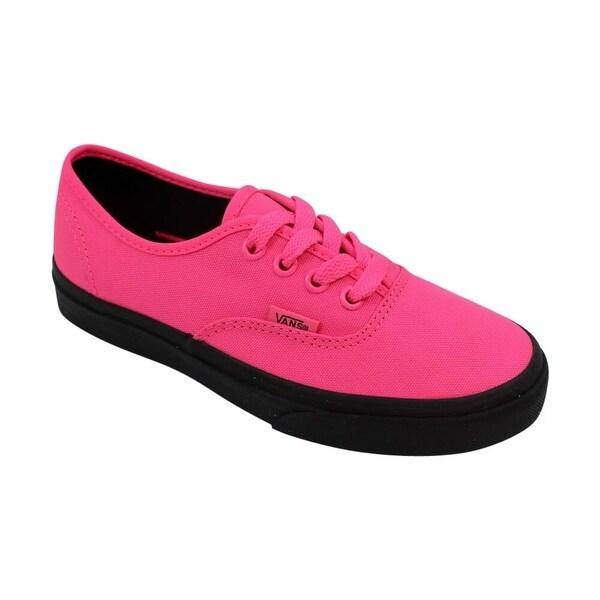 vans authentic neon pink