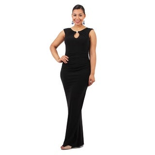 Long Sleeveless Open Back Sheath
