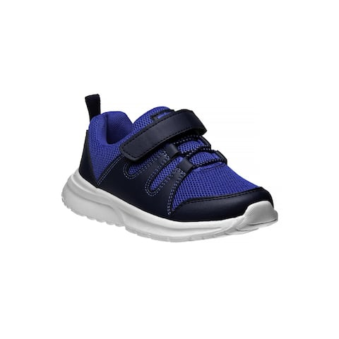 Avalanche Navy Blue Hook And Loop Breathable Pull On Sneakers Boys