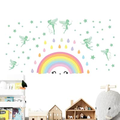 Walplus Colorful Rainbow Magic Fairy Glow in the Dark Wall Sticker DIY