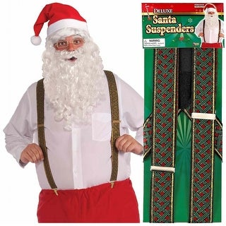 Deluxe Santa Suspenders Adult Costume Accessory