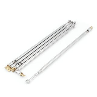 5 Pcs Replacement 62cm 24 4 Sections Telescopic Antenna Aerial for Radio TV