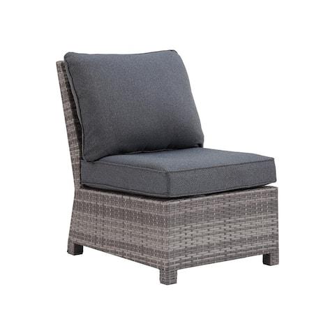 Salem Beach Outdoor Gray Armless Chair w/ Cushion