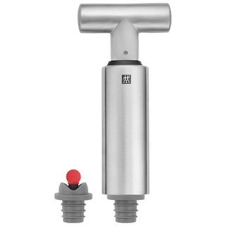 Link to ZWILLING Sommelier 3-pc Wine Vacuum Pump & Stopper Set - Stainless Steel Similar Items in Glasses & Barware