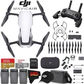 DJIMavic Air Fly More Combo (Arctic White) + DJI Baseball Cap (Black) + SanDisk Ultra 32GB Class 10 microSDHC Card Bundle