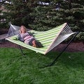 Sunnydaze 2-Person Quilted Hammock with Spreader Bars and Detachable Pillow - Hammock Stand Included - Thumbnail 65