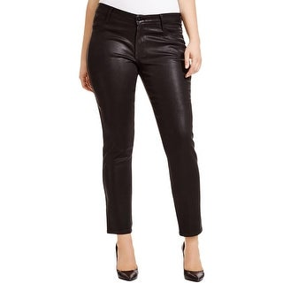 James Jeans Womens Plus Slim Jeans Coated Shimmer
