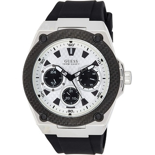 Link to Guess Men's W1049G3 Legacy White Dial With Black Rubber Strap - 1 Size Similar Items in Men's Watches