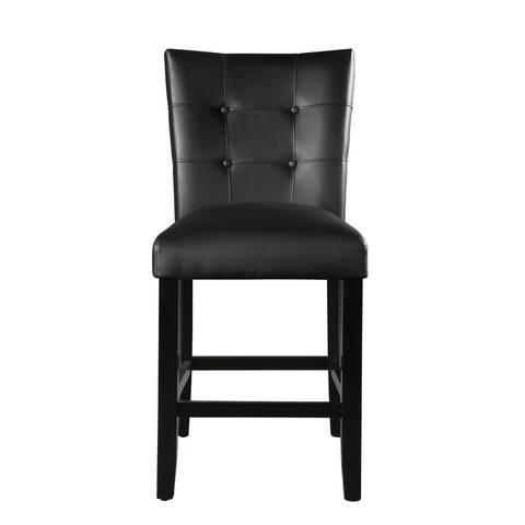 Porch & Den Merkem Faux Leather Counter Chair (Set of 2)