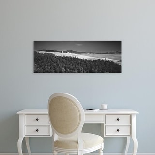 Easy Art Prints Panoramic Images's 'Trees on a hill, Tuscany, Italy' Premium Canvas Art