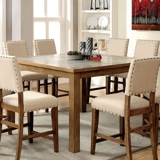 Link to Furniture of America Rick Industrial Brown Counter Dining Table Similar Items in Dining Room & Bar Furniture