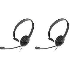 Panasonic KX-TCA400 (2 Pack) Over the head Hands-Free Headset with noise canceling mic