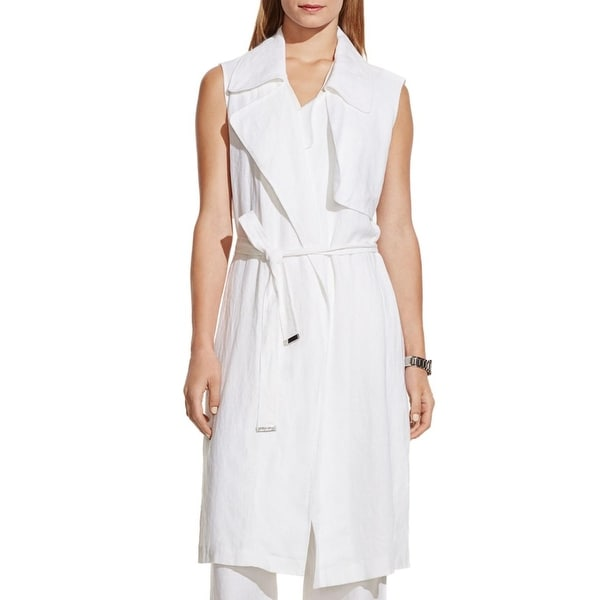 Vince Camuto Womens Duster Top Linen Sleeveless