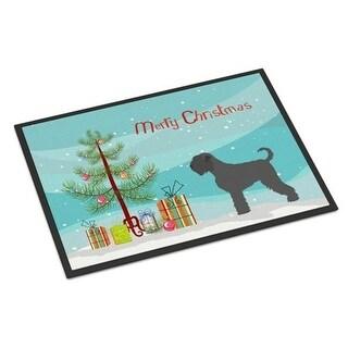 Carolines Treasures BB8455JMAT Black Russian Terrier Christmas Indoor or Outdoor Mat 24 x 36 in.
