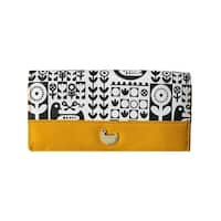 Buxton Womens Nordic Flight Clutch Wallet Faux Leather Expandable - o/s