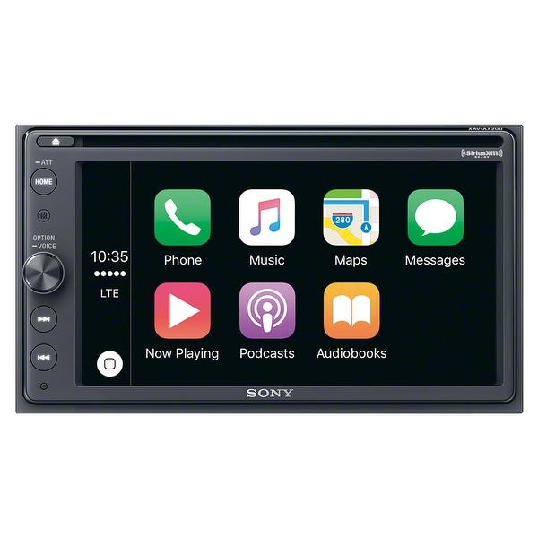 "Sony XAV-AX200SXM 6.4"" CD/DVD Receiver with Apple CarPlay, Android Auto, and SiriusXM Kit"