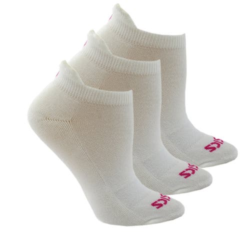 Asics Womens Cushion Low Cut 3-Pack Running Athletic Socks Socks