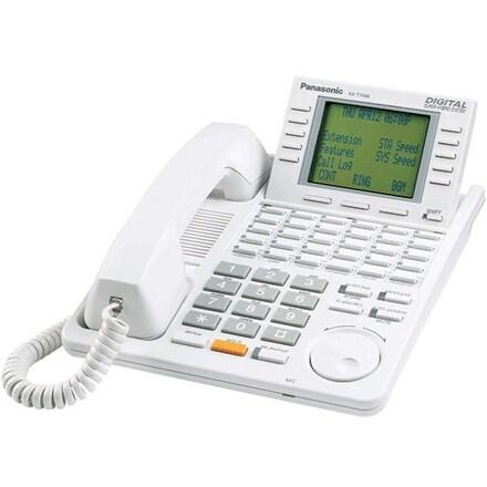 """Panasonic KX-T7456W-R Digital Super Hybrid System Backlit LCD Display Phone"""