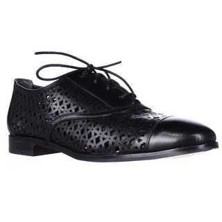 MICHAEL Michael Kors Sunny Lace-Up Perforated Oxfords - Black