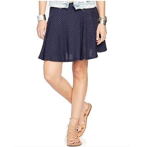 Denim & Supply Ralph Lauren Womens Star Printed Pull On A-Line Skirt Navy M