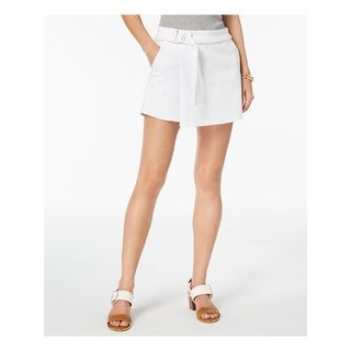 Link to TOMMY HILFIGER Womens White Wrap Above The Knee Skort  Size 16 Similar Items in Skirts