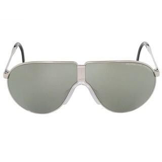 Porsche Design Design Heritage P8480 B 66 Unbreakable Foldable Sunglasses for Men Titanium Frame Olive Silver Mirror