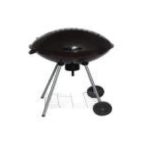 """32"""" Portable Black Charcoal Grill with Lid and Wheels"""
