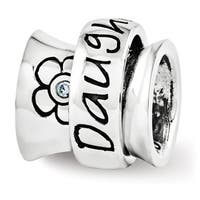 Sterling Silver Reflections Swarovski Elements Daughter Spinner Bead (4mm Diameter Hole)