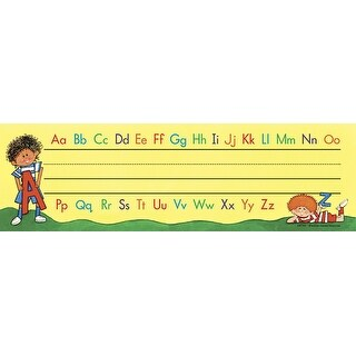 Teacher Created Resources Alphabet Flat Nameplate with Flash Cards or Labels, 3-1/2 X 11-1/2 in, Pack of 36