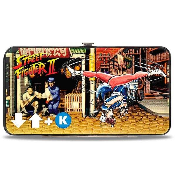 Street Fighter Ii Chun Li Spinning Bird Kick Hinged Wallet - One Size Fits most