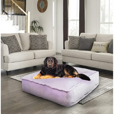Bessie and Barnie Lilac Ultra Plush Faux Fur Luxury Durable Sicilian Rectangle Pet/Dog Bed