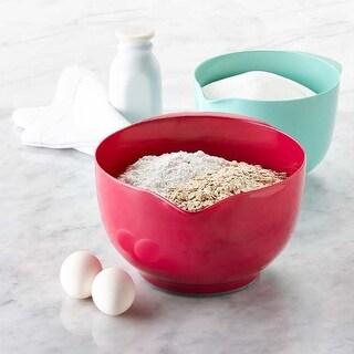 3 Quart Fuchsia & 1.5 Quart Aqua - Melamine Mixing Bowls 2-Piece Set