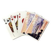 Alaska - Cruise Ship & Sunset - LP Artwork (Poker Playing Cards Deck)