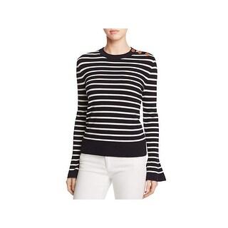 Tory Burch Womens Kimberly Pullover Sweater Merino Wool