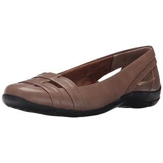 LifeStride Womens Darcine Faux Leather Cut-Out Flats - 8 medium (b,m)