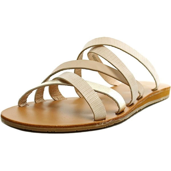 XOXO Staci Women  Open Toe Synthetic Tan Slides Sandal