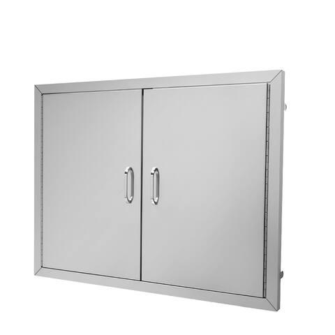 Double Door Stainless Steel 304 Cabinet Door 31 X 1.5 X 24 Inch