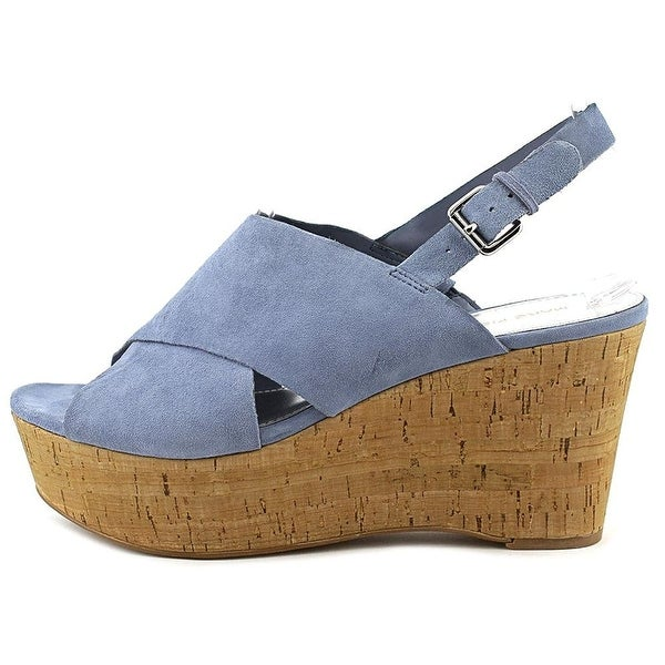 Marc Fisher Womens Sesame Suede Open Toe Casual Platform Sandals