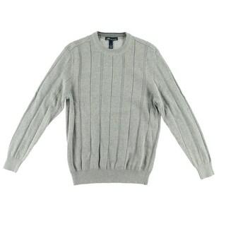 John Ashford Mens Heathered Ribbed Knit Pullover Sweater - XL