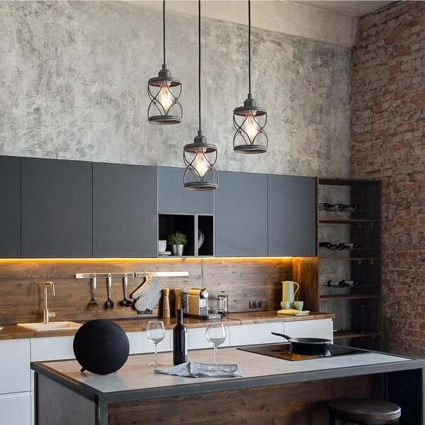 The Gray Barn Windy Bracken Modern Farmhouse Mini Island Pendant Lighting for Kitchen Table. Opens flyout.